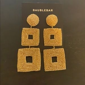 Gold Baublebar statement earrings